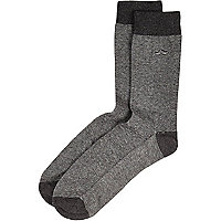 Grey moustache icon socks