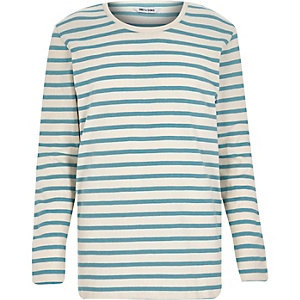 Blue Only & Sons stripe long sleeve t-shirt