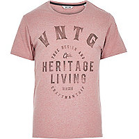 Red Only & Sons brand print t-shirt