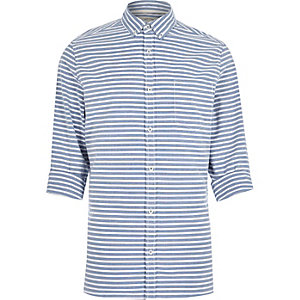 Blue and white stripe shirt