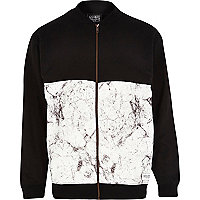 Black New Love Club panel bomber jacket