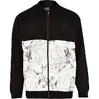Black New Love Club panel bomber jacket