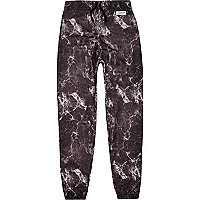 Black New Love Club marble joggers
