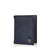 Navy textured cardholder
