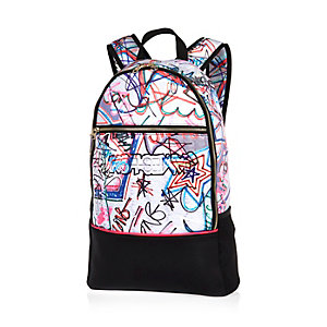 Black Design Forum printed backpack