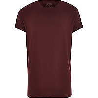 Dark red crew neck t-shirt