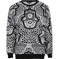 Black Jaded hamsa printed sweatshirt