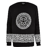 Black Jaded lion printed sweatshirt