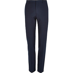 Blue tailored skinny suit trousers