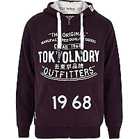 Purple Tokyo Laundry zip through hoodie