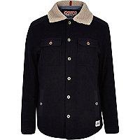 Navy Tokyo Laundry shearling collar jacket