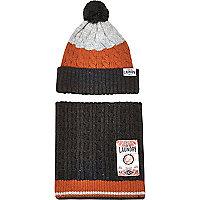 Dark grey Tokyo Laundry beanie scarf gift set