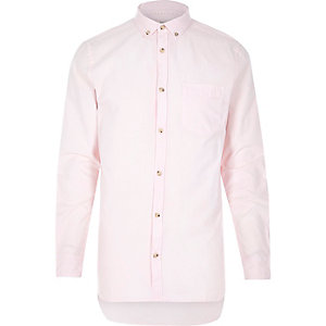 Pink Oxford collar shirt