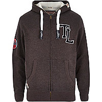 Dark grey Tokyo Laundry zip through hoodie