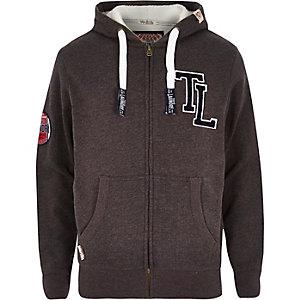 Dark grey Tokyo Laundry zip through hoodie