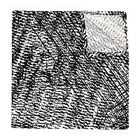 White scratch print pocket square