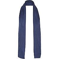 Grey polka dot print formal scarf