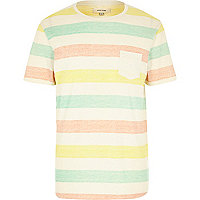 Ecru candy cane striped t-shirt
