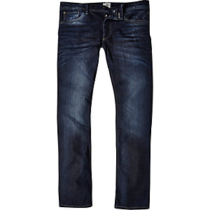 Dark wash Jack & Jones Vintage slim jeans