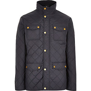 Navy Jack & Jones Premium quilted jacket