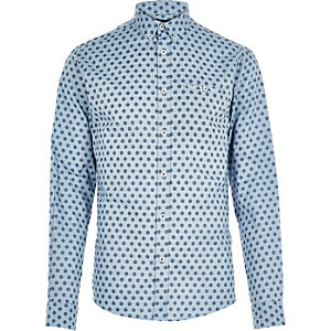 Blue Jack & Jones premium spot shirt