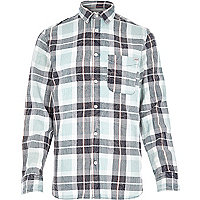 Navy Jack & Jones Vintage check shirt