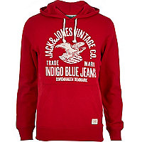 Red Jack & Jones Vintage branded hoodie