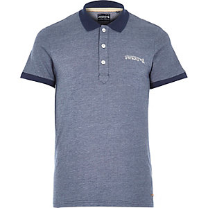 Blue Jack & Jones Vintage polo shirt