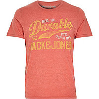 Red Jack & Jones Vintage slogan t-shirt