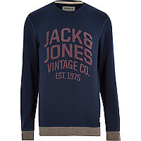 Navy Jack & Jones Vintage sweatshirt