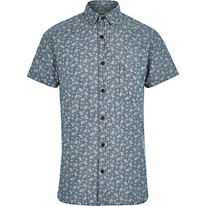 Blue Jack & Jones Vintage floral print shirt