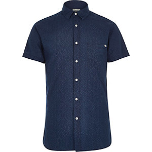 Dark blue Jack & Jones Vintage pattern shirt