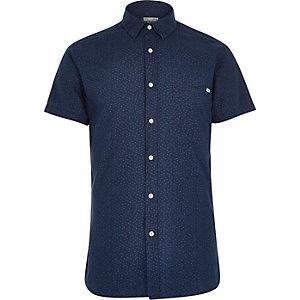 Dark blue Jack & Jones Vintage pattern shirt