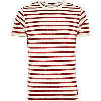 Red Jack & Jones Premium stripe t-shirt