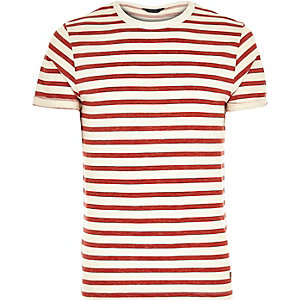 Red Jack & Jones Premium stripe t-shirt