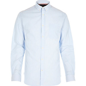 Blue Jack & Jones Premium stripe shirt