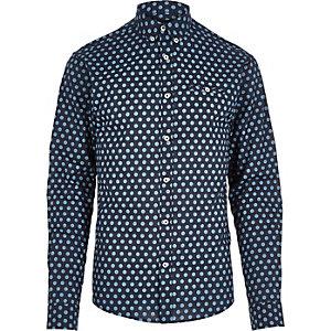 Navy Jack & Jones Premium spot shirt