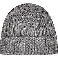 Grey mini docker beanie hat
