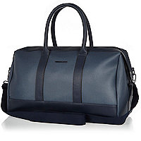 Navy textured holdall