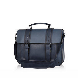 Navy smart satchel bag