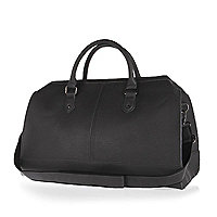 Grey pebbled holdall