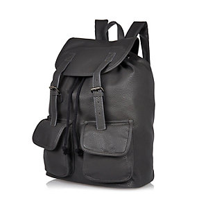 Grey pebbled backpack