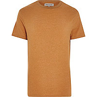 Orange crew neck t-shirt