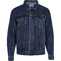 Dark wash casual denim jacket