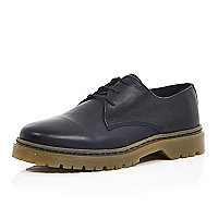 Black chunky sole formal shoes