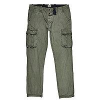 Khaki green cargo trousers