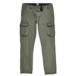 Khaki green cargo trousers