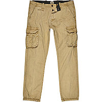 Light brown cargo trousers