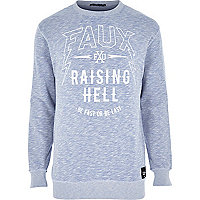 Blue Friend or Foe raising hell sweatshirt
