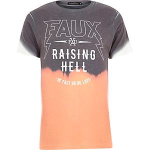 Orange Friend or Faux gradient t-shirt